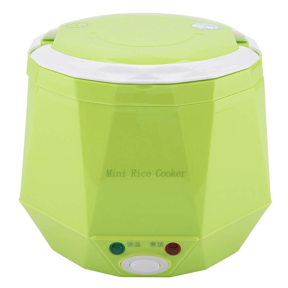 1.3L 12V 100W Electric Lunch Electric rice cooker Box Mini USB Rice Cooker Removable Food grade Double safety buckle Cook rice,porridge, nutritious eggs,warm dishes For Home Car Truck Outdoor(Green)