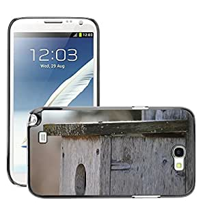 Super Stella Slim PC Hard Case Cover Skin Armor Shell Protection // M00145302 Birdhouse Wooden Old Bird Box Home // Samsung Galaxy Note 2 II N7100
