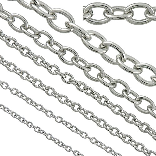 (6.6ft 8.5mm Width Stainless Steel Rolo Cable Chains Findings Fit for Jewelry Making &DIY (SC-1027-F))