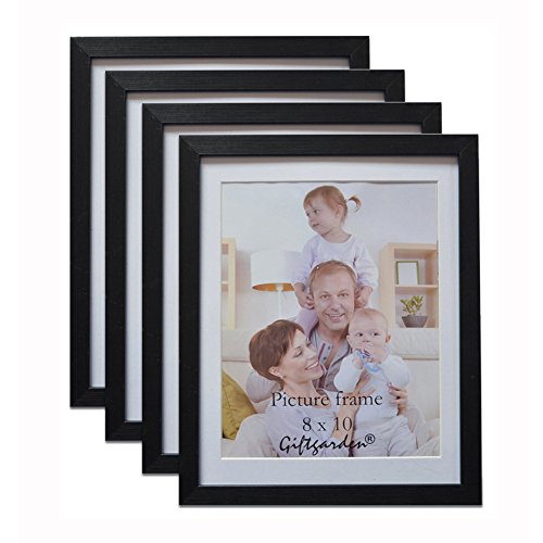 Family Time Photo (Giftgarden Black 8x10 Picture Frame Wall Decor for 8 by 10 Inch Photo Set of 4)