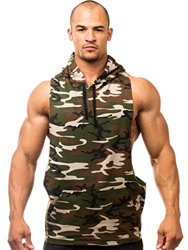 Iwearit Camo-XXL Y-Back Cotton/Lycra Stringer Tank-Top-Style Savage Hoodie