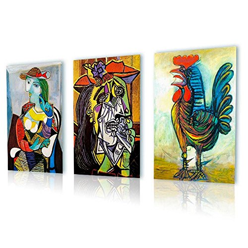 Alonline Art Marie Therese Rooster Weeping Pablo Picasso PRINT On CANVAS (100% Cotton, UNFRAMED Unmounted) 12