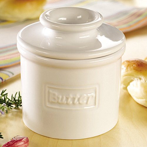 The Original Butter Bell Crock by L. Tremain, Cafe Retro Collection - White by Butter Bell (Image #2)