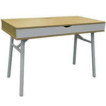 Beau TECH   Hideaway Office Desk / Computer Workstation   Oak / White By WATSONS