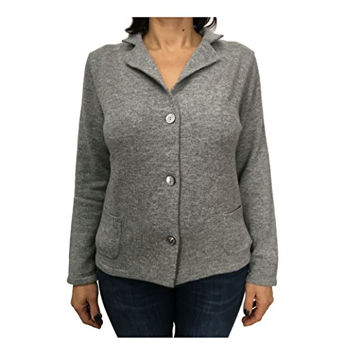 donna MONGOLIA VAGAN IN MADE 13937 grigio lana giacca 90 CA' BIS cashmere 10 7ExpOOq