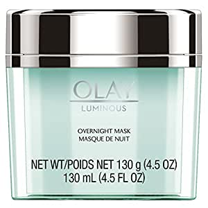 Night Cream by Olay, Luminous Overnight Facial Mask Gel Moisturizer