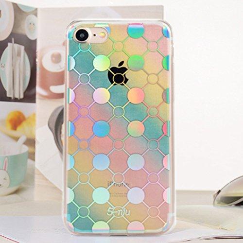 MXNET Fall für iPhone 6 u. 6s Blenden Sie Farben-Art- und Weisekugel-Laser-Muster-volle Abdeckung IMD-Kunstfertigkeit-Galvanisierung TPU weicher Rand + PC schützender rückseitiger Abdeckungs-Fall ,Iph