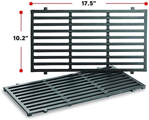 Uniflasy 7637 17.5 Inch Grill Cooking Grates for Weber Spirit 200 Series, Spirit E210, Spirit E220, Spirit S210, Spirit S220 with Front Control, Weber Spirit 200 Grill Grates, 17.5 x 10.2 x 0.5