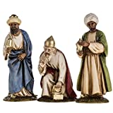 Holyart Figurines for Landi nativities, three Wise Kings 11cm, arabian wiseman