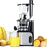 Aobosi Big Mouth Whole Slow Masticating Juicer,Wide Chute Anti-Oxidation Juicer Extractor,Energy Saving 200W DC Heavy Duty Motor with Juice Jug and Cleaning Brush