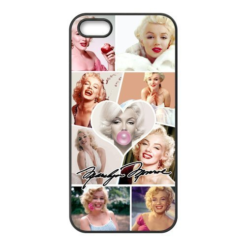 [Generic Hollywood actress Marilyn Monroe Smiling face Case Cover for iPhone 5 5S] (V The Series Costumes)