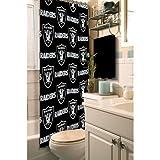 Northwest 1NFL903000019RET Nor-1NFL903000019RET Oakland Raiders NFL Shower Curtain NFL 903 Raiders Shower Curtain