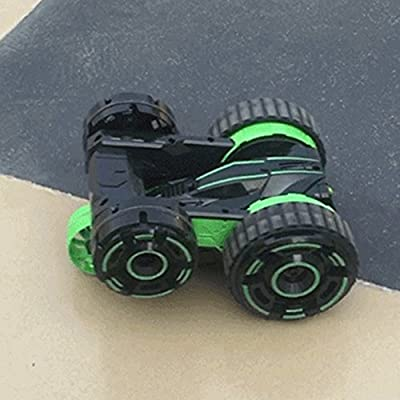 Etbotu RC Stunt Car Model, with 5 wheels and Lights High Speed?Deformation