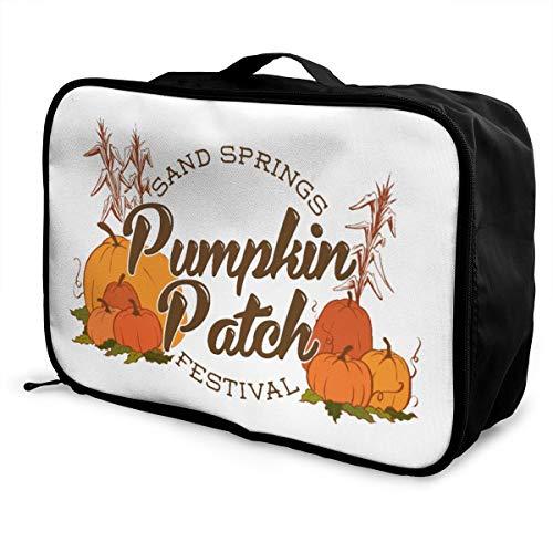 Pumpkin Patch Lightweight Large Capacity Portable Luggage Bag Fashion Travel Duffel Bag
