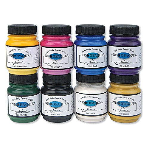 Jacquard Products JAC5800 Neopaque Acrylic Paint (8 Pack), 2.25 oz, Assorted (Jacquard Fabric Paint)