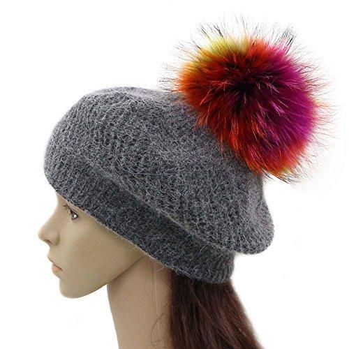2e7fd68fa162f Amazon.com  GZHILOVINGL Wool Knit Beret Hats for Women Spring ...
