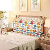 Bed soft pack Solid wooden bed cushion Double tatami backrest Cushion Back Bed cover-B 120x10x60cm(47x4x24)