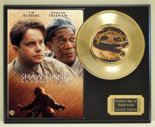 Shawshank Redemption, Limited Edition Gold 45 Record Display. Only 500 made. Limited quanities. FREE US SHIPPING