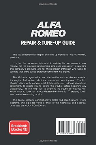 glenn s alfa romeo repair tune up guide performance mechanical rh amazon com Mechanic Certificate Mechanical Cards