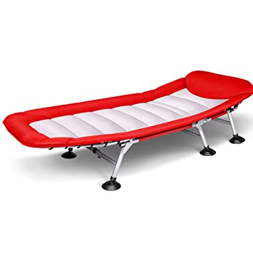 Lit Pliant Simple Rouge Lit De Camp De Siesta Lit Adulte De Bureau - Lit adulte rouge