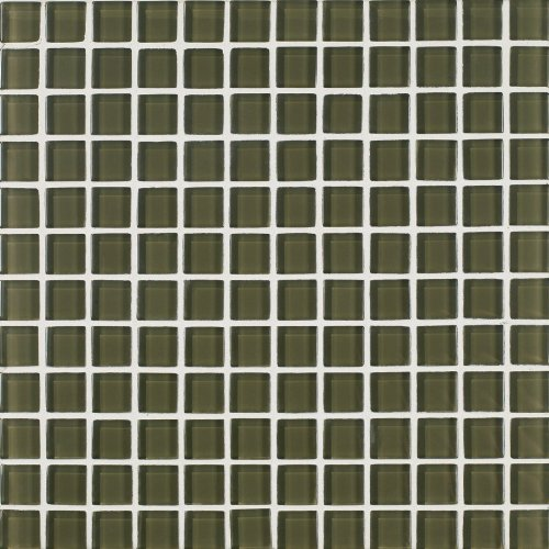 Inch Skylights Glossy Glass Tile on a 12 by 12-Inch Mosaic Mesh, Moss, 11-Pack ()