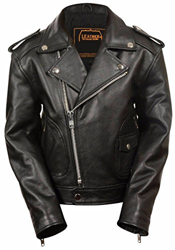 Dona Michi Kids Unixes Genuine soft Leather Jacket Outerwear Biker Jacket