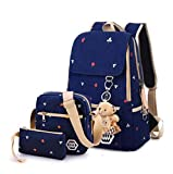 Casual Style Lightweight Canvas Laptop Backpack for School Laptop Messenger Bag for 14.1-inch Pc Macbook Pro Fits All Ipad Generations Including Ipad4 - Fashion Cute Travel School College Shoulder Bag / Bookbags / Daypack