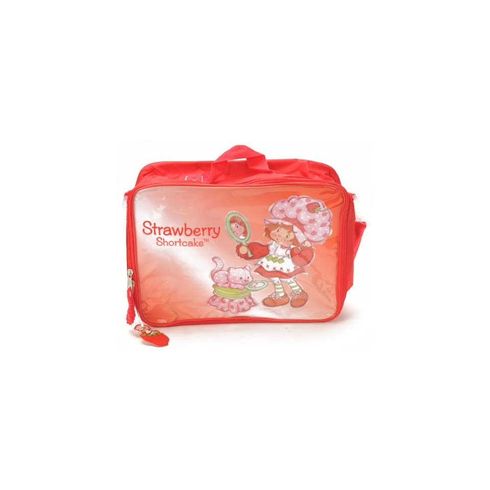 """Birthday Christmas Gift   Strawberry Shortcake Lunch Bag and Mickey Mouse 200 Piece Stickers Set, Size Approximately 14"""" X 10"""" Toys & Games"""