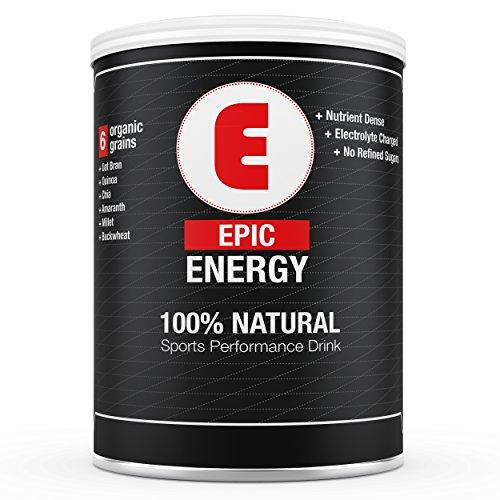 Epic énergie - # 1 All Natural Clean Energy Drink Powder - substitut de repas, Sports Drink, et tout le reste! Comprend 100% biologique: son d'avoine, quinoa, Chia, Amaranth, Millet et sarrasin. Satisfaction garantie ou argent remis (Small 14 portions)
