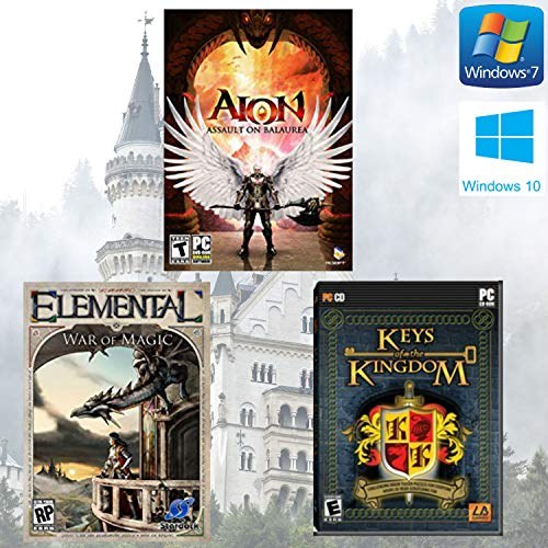 Aion: Assault on Balaurea, Elemental: War of Magic and Keys of the Kingdom PC Bundle [Windows 7] [Windows 10]
