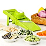 Mandoline Slicer - Adjustable Blade Fine to Thick Slice & Julienne Settings, Vegetable Cutter, Grater & Slicer for Vegetable, Potato, Tomato, Onion, Cheese