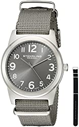 Stuhrling Original Men's 409.SET.02 Tuskegee Contrail Watch with Two Interchangeable Straps