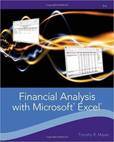 Read Financial Analysis with Microsoft Excel 6th (sixth) Edition by Mayes, Timothy R., Shank, Todd M. published by Cengage Learning (2011) PDF, azw (Kindle)