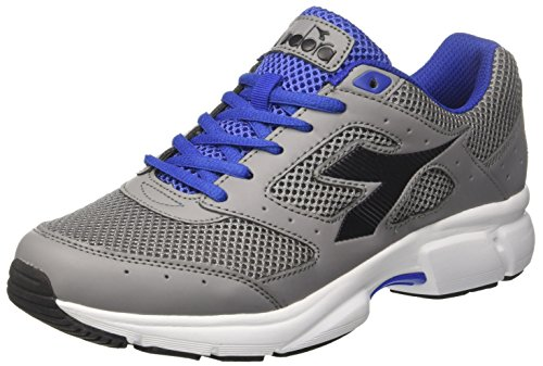 Diadora Men's Shape 9 Running Shoes, Silver Grigio (Grigio Antracite Azzurro Scuro)
