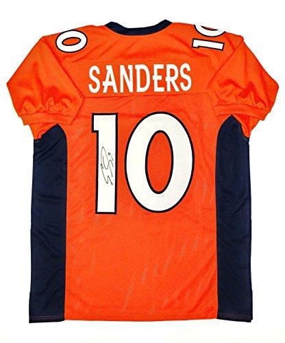(Emmanuel Sanders Signed Jersey - Orange Pro Style W Auth - JSA Certified - Autographed NFL Jerseys)