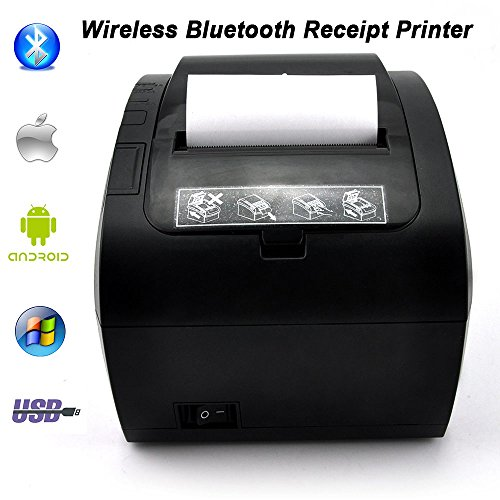 MUNBYN 80mm Direct Thermal Printer with USB Serial Ethernet and Bluetooth 4.0 For Android iOS Windows PC 300mm/sec ESC/POS by MUNBYN