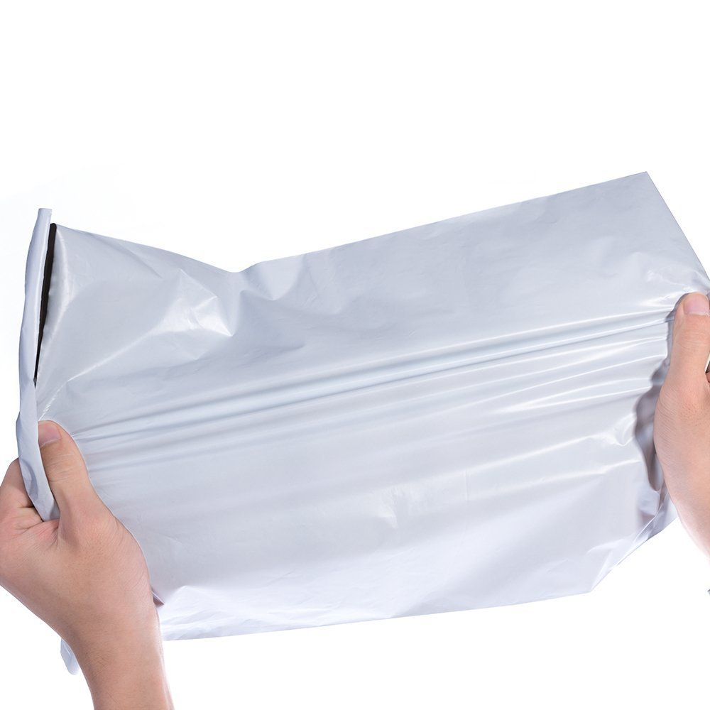 Poly Mailers Envelopes Shipping Bags Self Sealing, 100 Bags,10''x13'' (White)