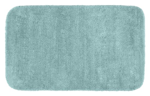 Garland Rug Traditional Plush Washable Nylon Rug, 30-Inch by 50-Inch, Seafoam