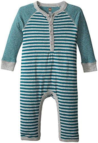 - Tea Collection Boys' Ichiro Henley Romper, Tidepool, 3-6 Months Baby