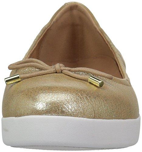 Fitflop Mujeres Superbendy Ballerina Ballet Plano Metalizado / Dorado