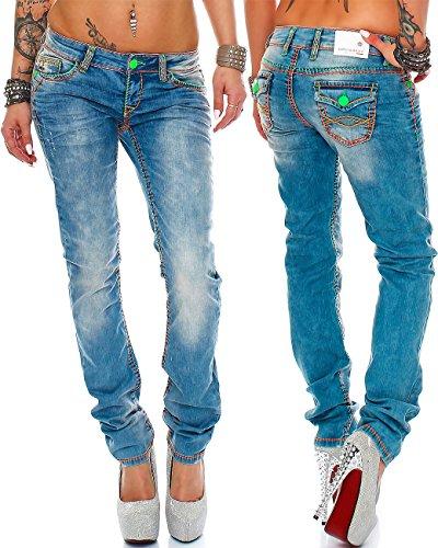 2d8cb743630 Cipo   Baxx Damen Jeans Designer Hose Hüftjeans Skinny Regular Fit Stretch  Dicke Naht  Amazon.de  Bekleidung