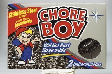 Chore Boy Stainless Steel Scrubbers 2 / Pack by Spic & Span Company