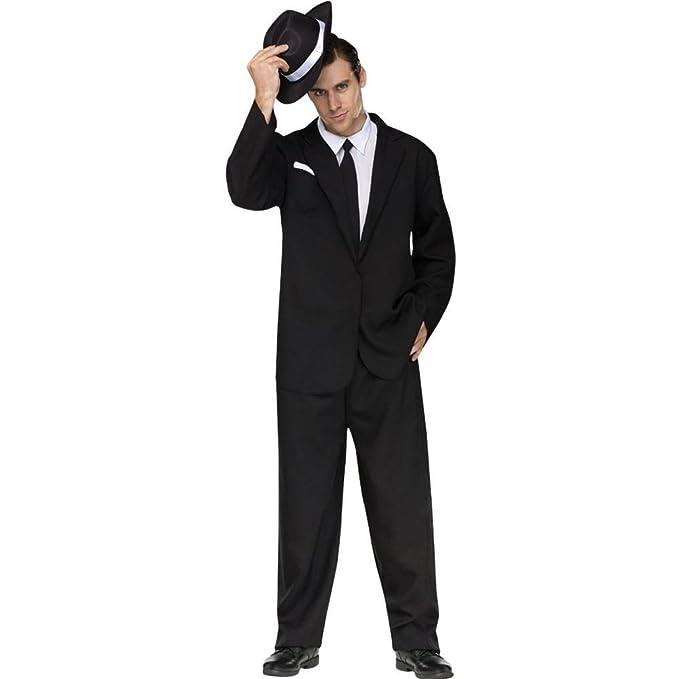 Fun World de los Hombres Traje Negro Completo Costume 2fda0aa33e5