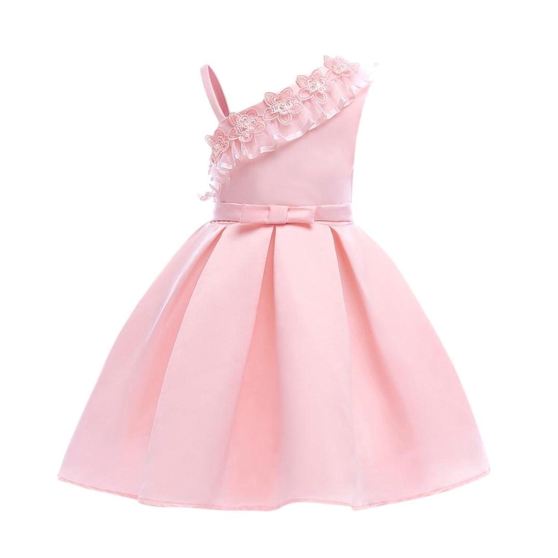 Robe de Princesse Fille JIANGfu Floral bébé fille princesse demoiselle  d honneur Pageant robe de e2d29ff3a1e