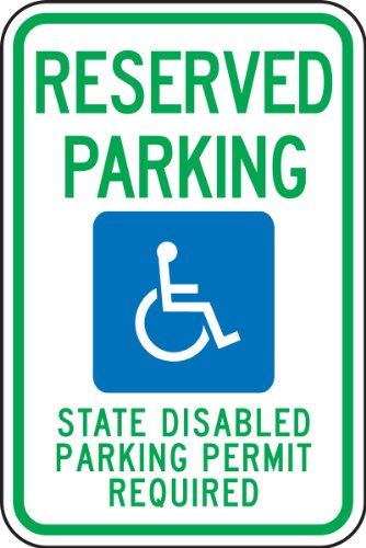 Accuform FRA212RA Engineer-Grade Reflective Aluminum Handicapped Parking Sign (Washington), Legend