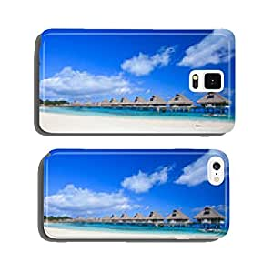 White sand beach and overwater villas in Bora Bora cell phone cover case iPhone6