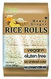 Tory's Choice Crunchy Rice Rolls, Gluten Free, Honey Ginger 12 Pack