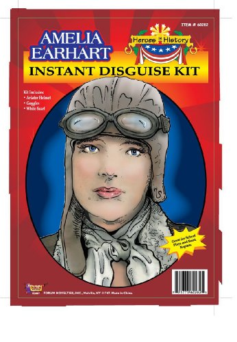 [Forum Amelia Earhart Instant Disguise Kit] (Girls Pilot Costumes)