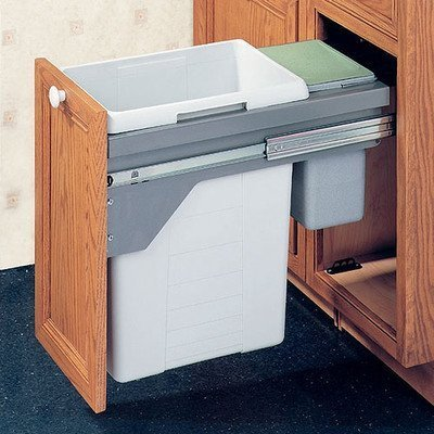 (Drawer Slide-Out Double Waste Bin - 48.5 Liter by Hafele)