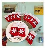 12pcs Mini Christmas Stocking Dinnerware Cover Xmas tree decorations